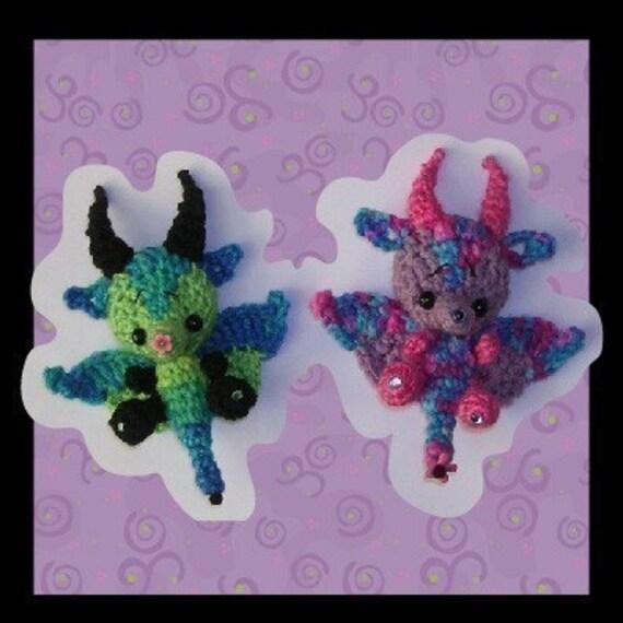Dairigon the Dragon Milk Cap Cutie Digital PDF Crochet Pattern Quick and Easy
