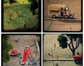 Miniature Childhood Memories through the viewfinder portfolio of four TTV Photographs