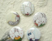 Bunny 1 inch Badge Set