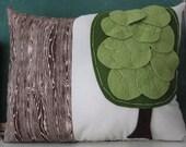 the big green tree pillow