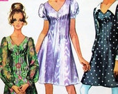 1960s Simplicity 8089 vintage dress pattern junior size 9