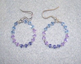 Shades of blue Crystal Earrings