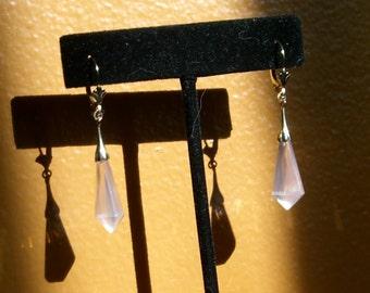 18kt and 14kt Rose Quartz Earrings