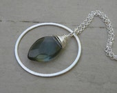 Pendulum Necklace on Rolo Chain