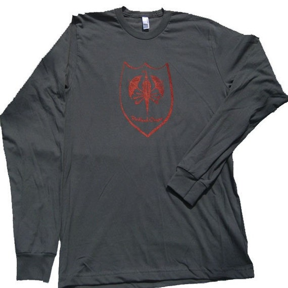 Portland coat of arms t shirt long sleeve mens size 2x for Shirts for men with long arms