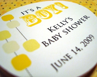 Custom Baby Shower Hang Tags or Stickers