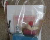 Needle Felting Kit - Contains everything you need to make a Miniature Sock Monkey/MAUVE