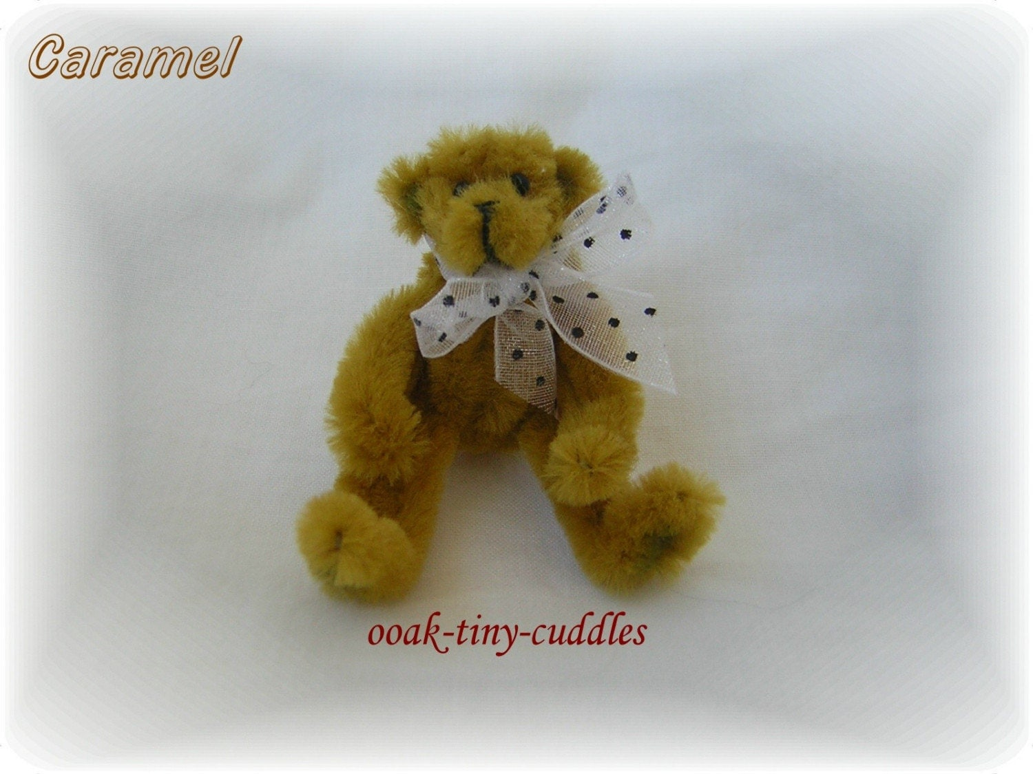 ooak chenille pipe cleaner teddy bear poseable reduced