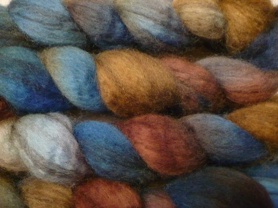Mixed BFL Roving - Hand Painted Felting or Spinning Fiber - Cow Girl