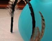 Feather and ribbon headband 2