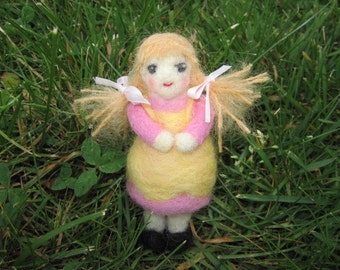 Needle Felted Doll Goldy Locks Figure