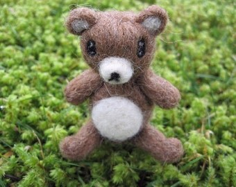 Miniature Poseable Bear Figure