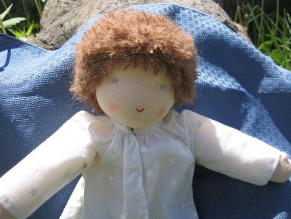 12 inch Boy Natural Doll with dark blond/light brown hair (waldorf style)