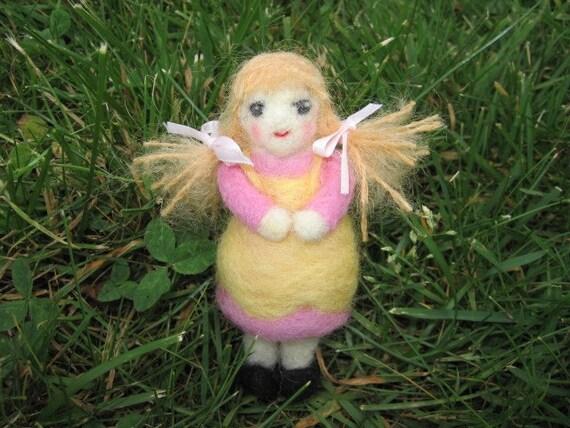 Needle Felted Doll Goldy Locks Figure