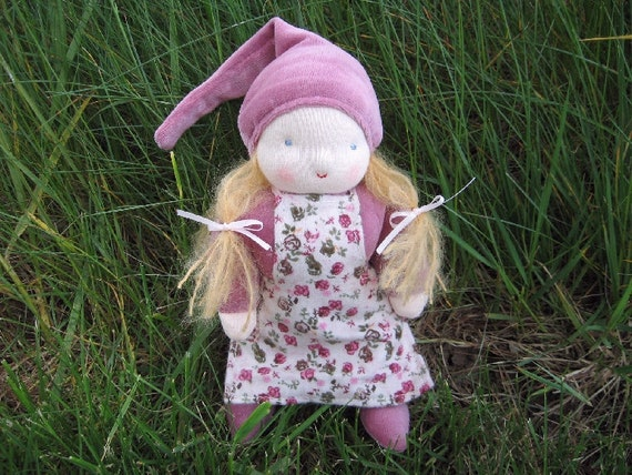 Waldorf Doll Hazel the Girl Gnome 8 Inch Waldorf Style Doll