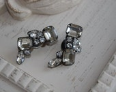 Vintage Kramer of New York Rhinestone Clip Earrings...Beautiful