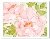 "Peony in Pink--8""X10"" Fine Art Print"