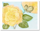 "Camellia in Yellow 1--8""X10"" Fine Art Print"