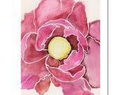 "Poppy in Fuchsia--11""X14"" Fine Art Print"
