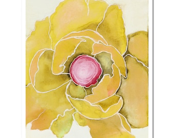 "Poppy in Yellow--8""X10"" Fine Art Print"