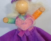 flower girl kit for pretend play using hand dyed natural materials