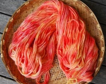Hand painted wool in autumn colours red orange various weights and ply's