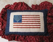Gold & Glory by Liberty Street Designs Completed Needlework Patriotic Flag Pillow