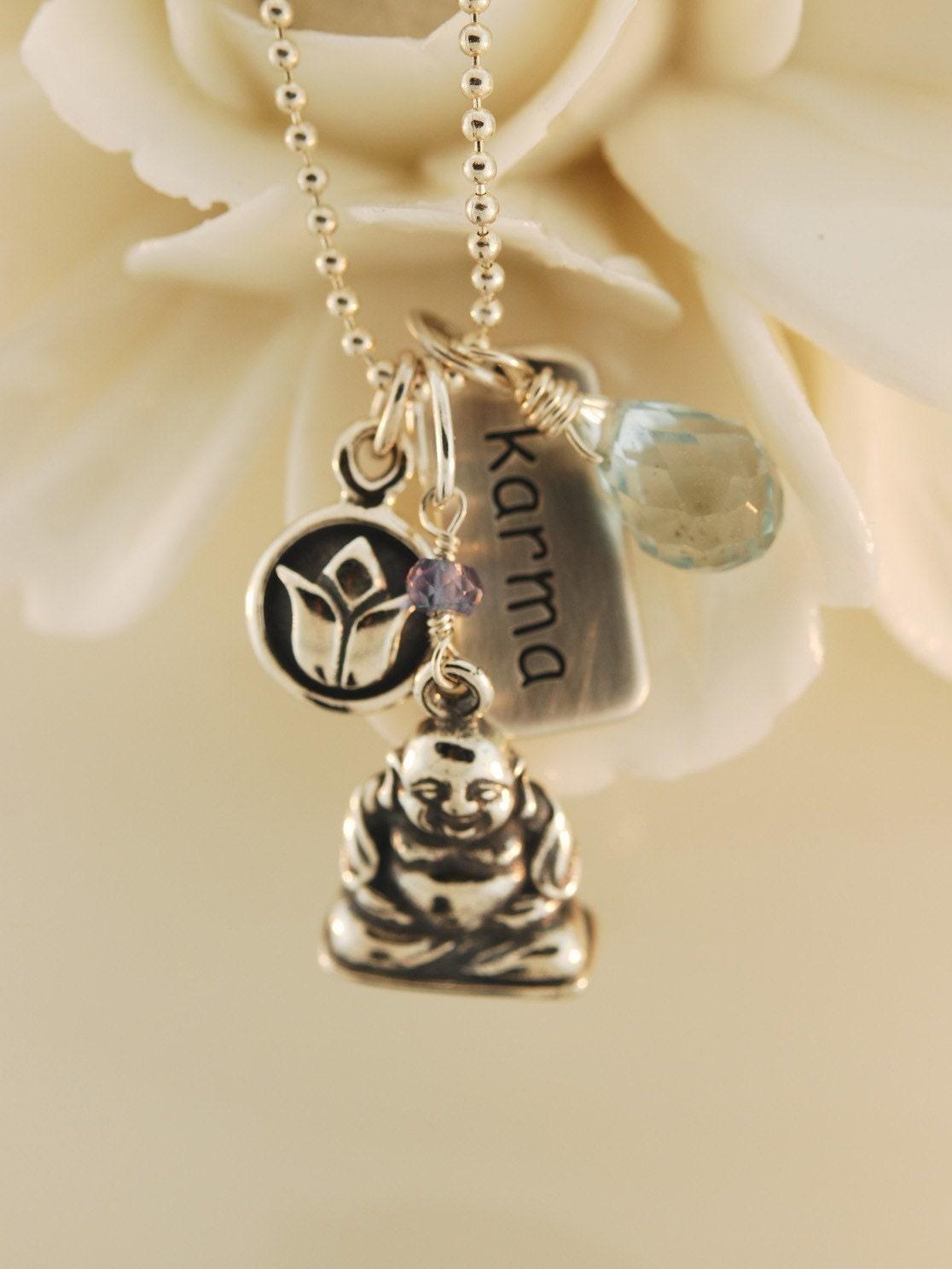 karma charm necklace