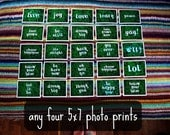 any 4 -- 5x7 art photo prints