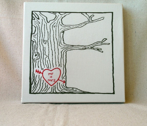 mr and mrs -- tree print wall art -- ready to ship