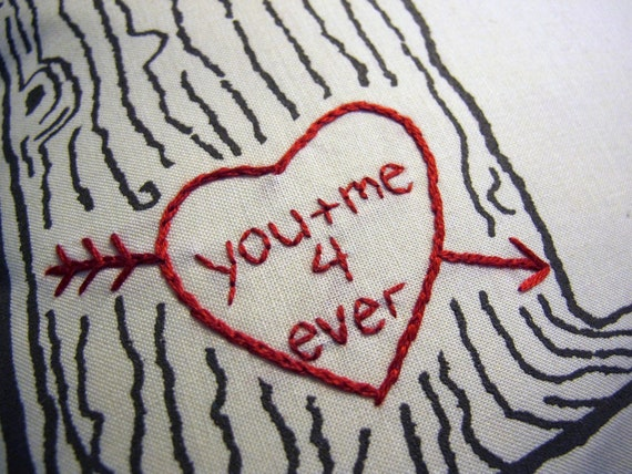 you and me forever -- tree print pillow cover -- ready to ship