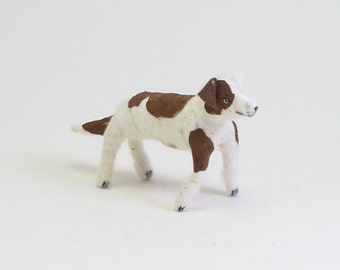 Spun Cotton Vintage Inspired Fido Dog Ornament/Figure