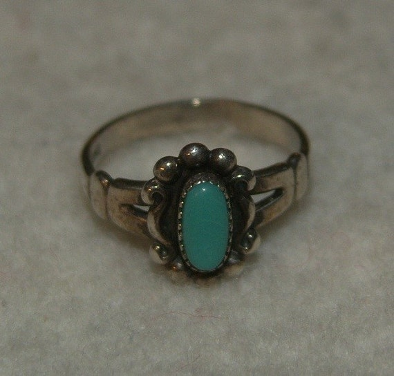 Size 5 turquoise ring
