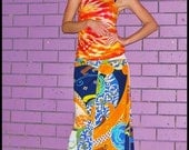 Psychedelic Vintage Knit maxi Skirt size S/M
