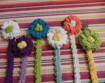 Pacifier..Paci Clip.Crochet..1 Clip..