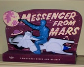 Archer Plastic Ideal Messenger From Mars Spaceman with Ray Gun Television Lamp