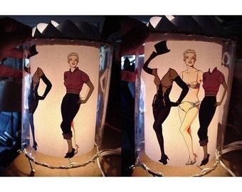 Marilyn Monroe Paper Doll Motion Lamp
