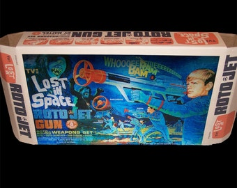 Mattel's Lost In Space ROTO JET GUN box and instructions REPROduction