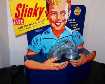 1953 SLINKY COUNTER DISPLAY reproduction will BLoW YoU AWaY