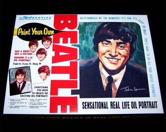 John Lennon Beatles PAINT By NUMBER KIT reproduction Artisitc Creations 1965
