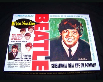 Paul McCartney Beatles PAINT By NUMBER KIT reproduction Artistic Creations 1965
