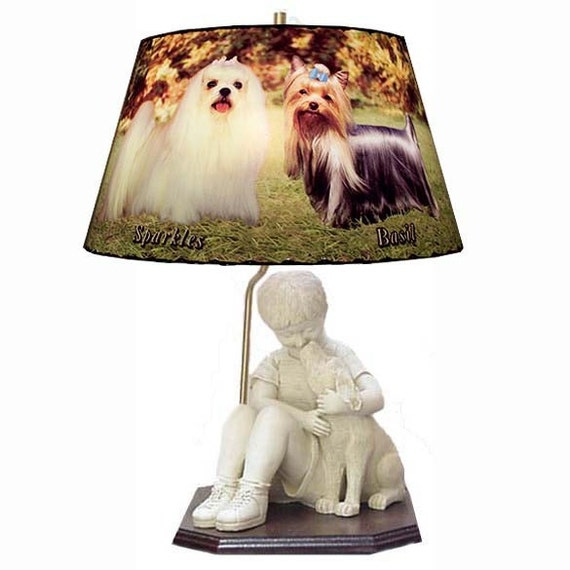 Sculpture Dog Lamp and Lamp Shade Perfect Gift Idea for Dog and Pet ...