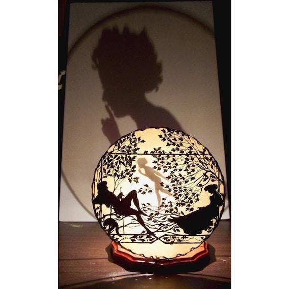 Shadowland Unique Shadow Lamp Night Light  Lighting at its most original SLUMBERING LOVE