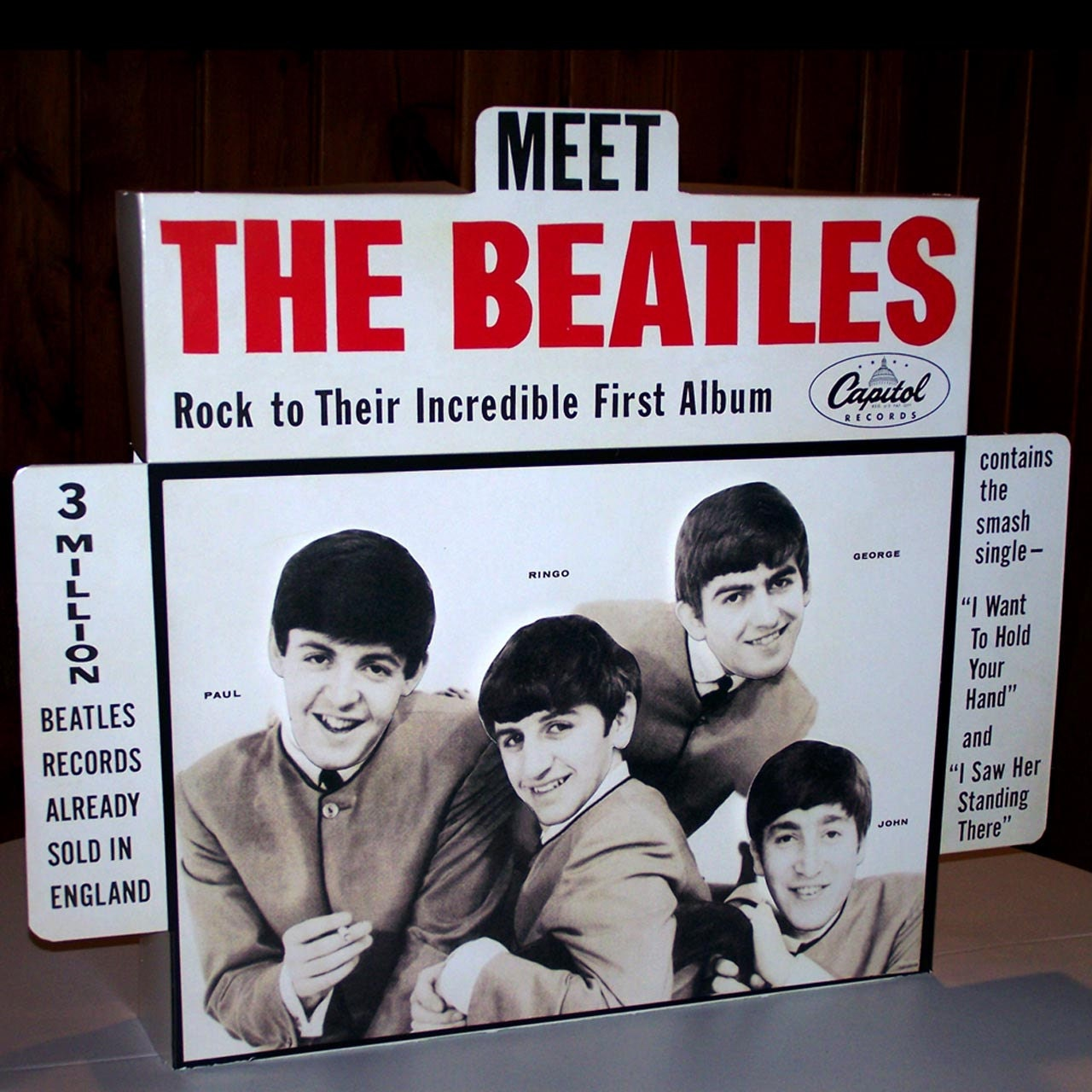 Meet The Beatles 1964 Working Motorized Animated Record Store