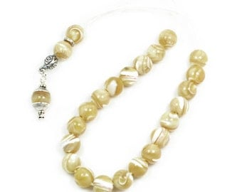 Ladies Worry Beads - Komboloi - Mother of Pearl-MOP