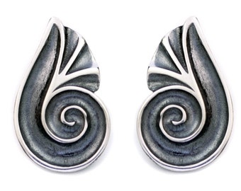 Spiral Shell - Sterling Silver Earrings