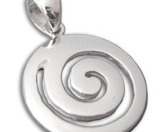 Spiral - Sterling Silver Pendant