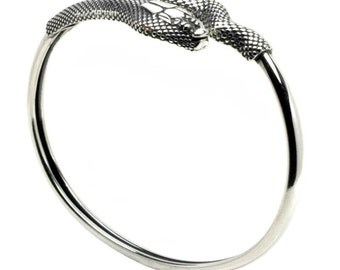 Snake-Serpent - Sterling Silver Cuff Bracelet