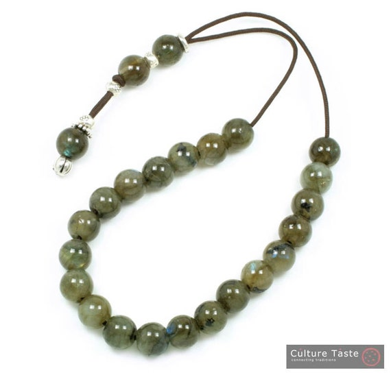 Worry Beads-Greek Komboloi - Labradorite Gemstone - Round Shape