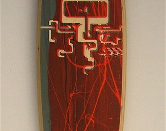 Longboard skateboard  deck silkscreen print  no.43\/50